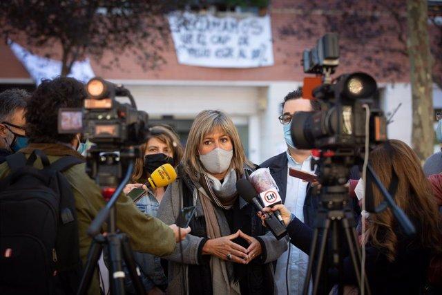 L'alcaldessa de l'Hospitalet de Llobregat i presidenta de la Diputació de Barcelona, Núria Marín.