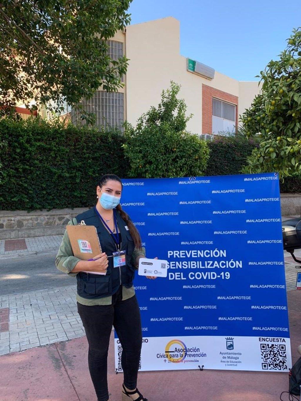 Málaga realiza una campaña municipal destinada a jóvenes sobre medidas preventivas ante el COVID 3