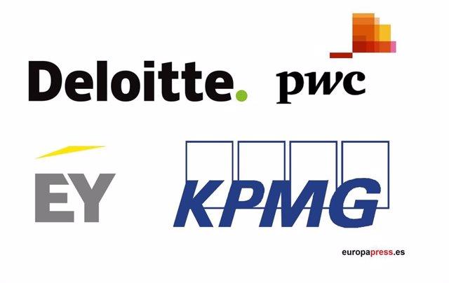 Logos Deloitte, PwC, EY, KPMG
