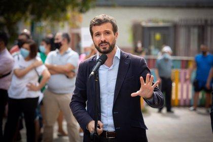 """Casado dice que el """"sablazo fiscal"""" a familias y trabajadores que pretende Sánchez es """"la puntilla para la crisis"""""""