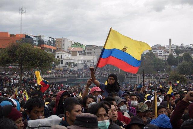 Imagen de archivo de las portestas que sacudieron Ecuador en octubre de 2019.