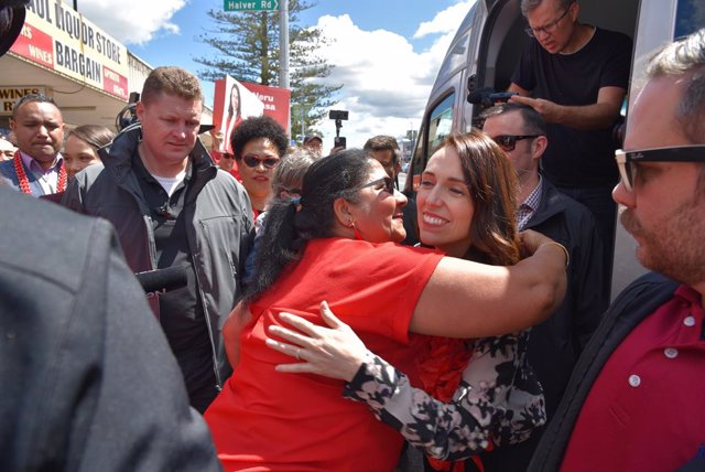 Prime Minister Jacinda Ardern meets locals at Southmall in Manurewa, South Auckl
