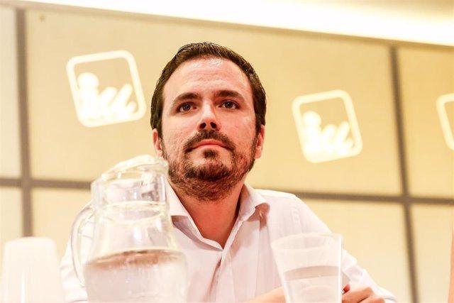 Imagen de recurso del coordinador federal de Izquierda Unida (IU), Alberto Garzón.