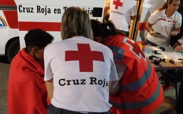 Atención de inmigrantes de Cruz Roja (archivo)
