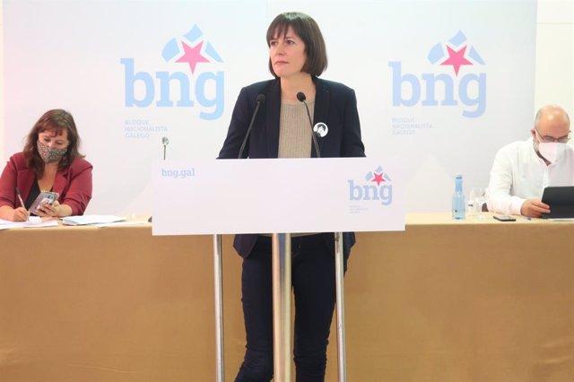 Ana Pontón interviene en la interparlamentaria del BNG celebrada en Teo
