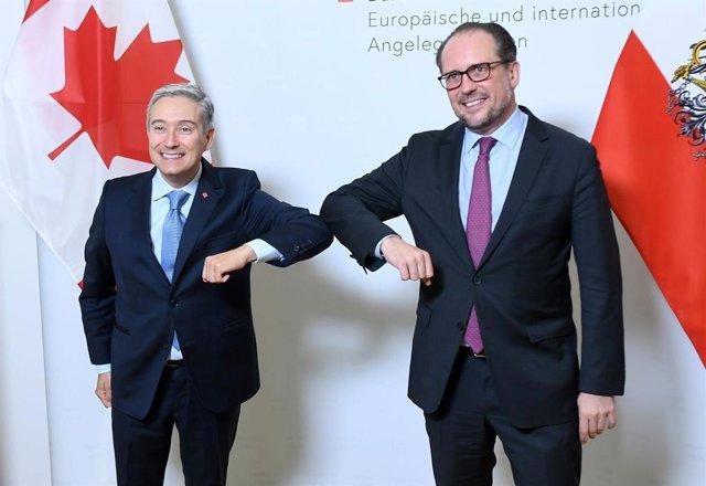 AMP. Coronavirus.- Los ministros de Exteriores de Austria y Bélgica, positivo po