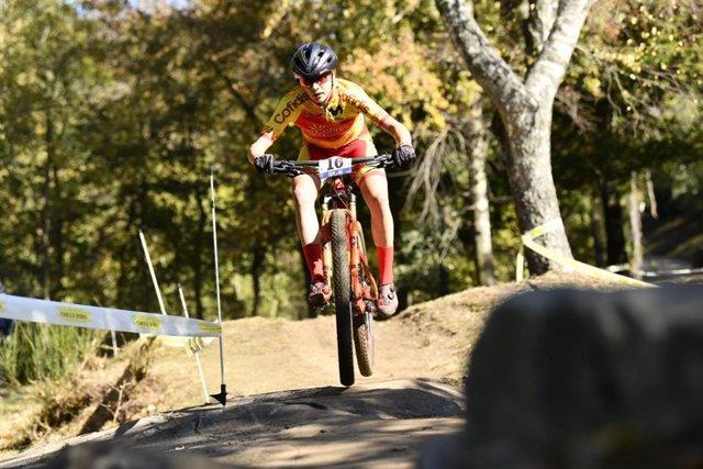 Rocío del Alba García durante el Europeo de Mountain Bike
