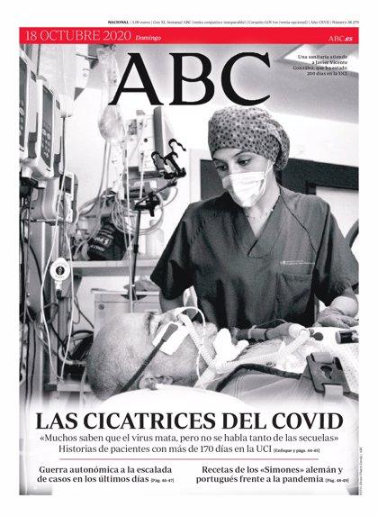 Estas son las portadas de los diarios del domingo 18 de octubre
