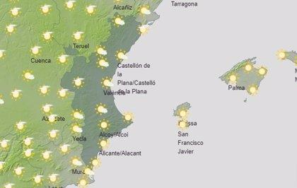 La Comunitat vivirá un domingo con intervalos de nubes altas y temperaturas en ascenso