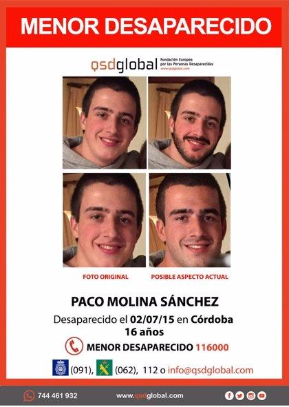 Los padres del desaparecido Paco Molina piden con un apartado de correos colaboración ciudadana para encontrarlo