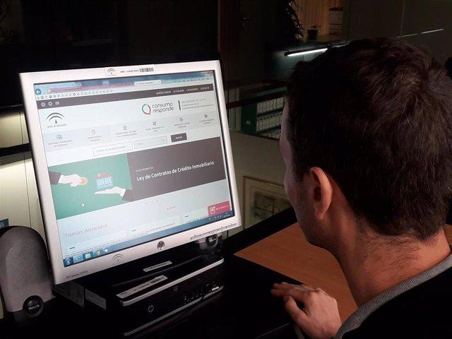 Página web de Consumo Responde (Foto de archivo).