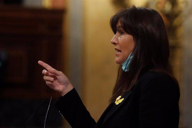 La diputada de Junts per Catalunya, Laura Borràs, al ple del Congrés. Madrid, (Espanya), 22 d'abril del 2020.