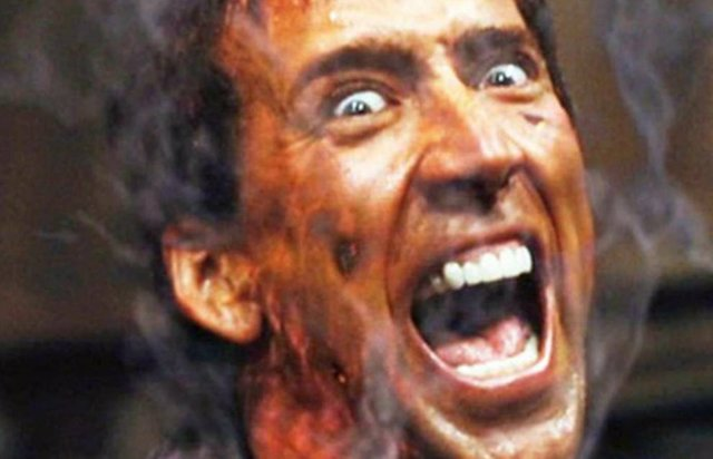 Nicolas Cage como Ghost Rider de Marvel