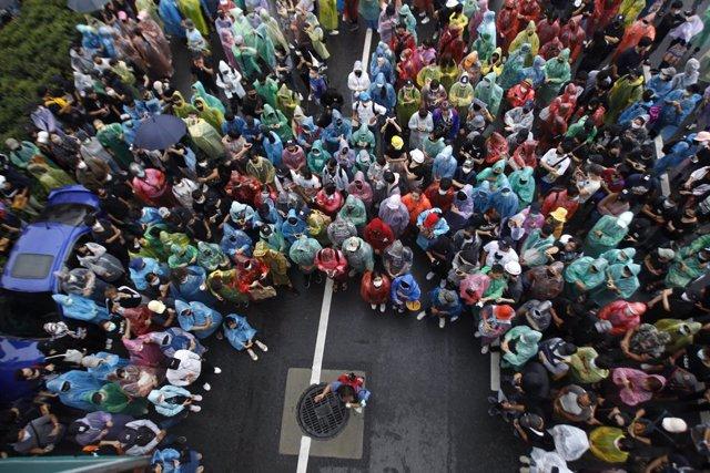Tailandia.- La oposición tailandesa repite su concentración contra el Gobierno e