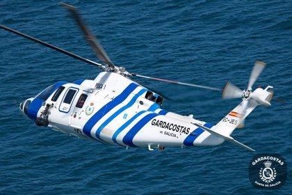 Rescatado en helicóptero un hombre tras caer a las rocas en Nigrán (Pontevedra)