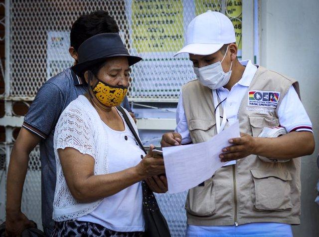 Bolivia.- El TSE aclara que quienes no pudieron votar por la mañana por cifra de
