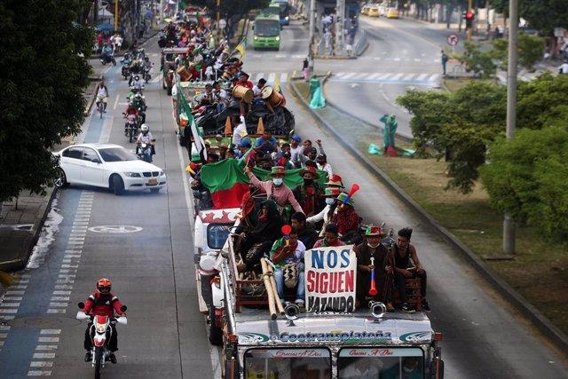 Colombia.- Bogotá recibe a la 'minga' y critica la falta de acuerdo con el Gobie