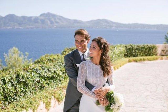 Rafa Nadal y Mery Perelló en el día de su boda en Mallorca