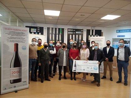 Primera donación del vino de Bodegas Finca de la Rica '20:00 ES NUESTRA HORA' a FESBAL de 6.112,80 euros