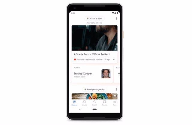 Google Descubre lanza un botón de 'me gusta' para valorar sus recomendaciones