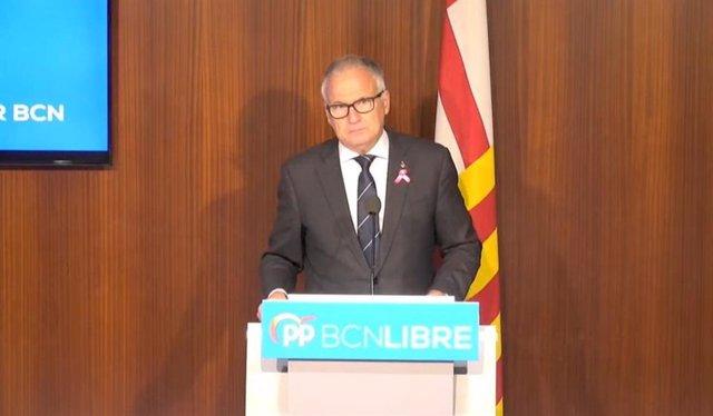 El president del grup municipal del PP a l'Ajuntament de Barcelona, Josep Bou.