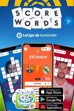 Fútbol.- LaLiga lanza Score Words, un nuevo juego de palabras para los aficionad