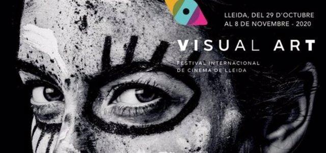 Cartell de la 1a edició del Visual Art-Festival Internacional de Cinema de Lleida. (Vertical)