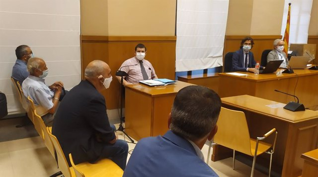 Primera sessió del judici a un regidor de Sant Adrià del Besòs (Barcelona) per prevaricació en els contractes per vigilar edificis de la Mina. Barcelona, Catalunya (Espanya), 15 de setembre del 2020