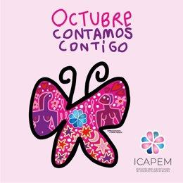 Campaña ICAPEM para concienciar sobre el cáncer de pulmón y de mama.