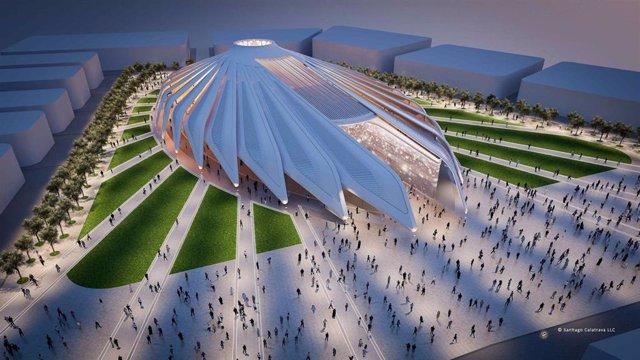 Infografía del Pabellón Emiratos Árabes Unidos de la Expo 2020 de Dubái