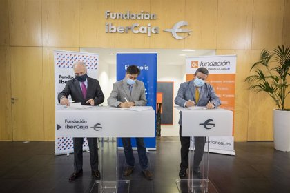 Las fundaciones Ibercaja y Caja Inmaculada renuevan su colaboración con Ebrópolis