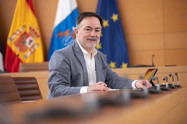 El consejero de Planificación del Territorio, Patrimonio Histórico y Turismo del Cabildo de Tenerife, José Gregorio Martín Plata