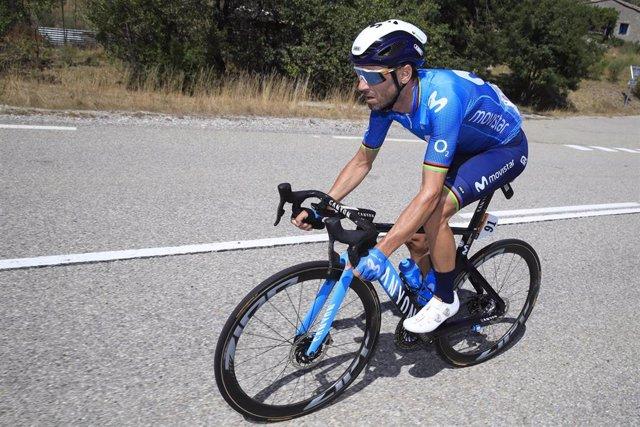 El corredor español del Movistar Alejandro Valverde en la quinta etapa del Tour de Francia de 2020