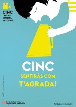 Cartell del programa Cinema Infantil en Català (Cinc).