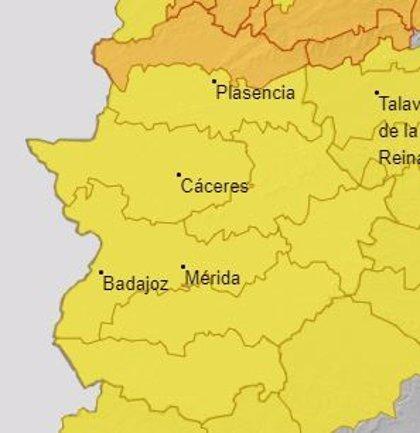 Extremadura permanece en alerta amarilla este martes por viento, que podrá alcanzar los 80 kilómetros por hora
