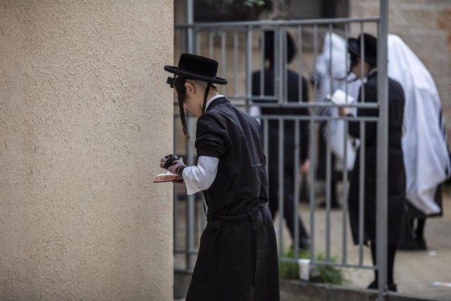 Imagen de archivo de un judío ortodoxo.