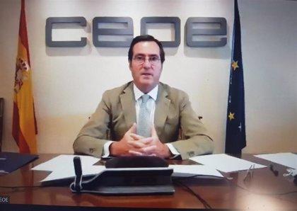 """Garamendi (CEOE) ve """"razonable"""" que el Gobierno """"no coja de golpe"""" la totalidad de los fondos europeos"""