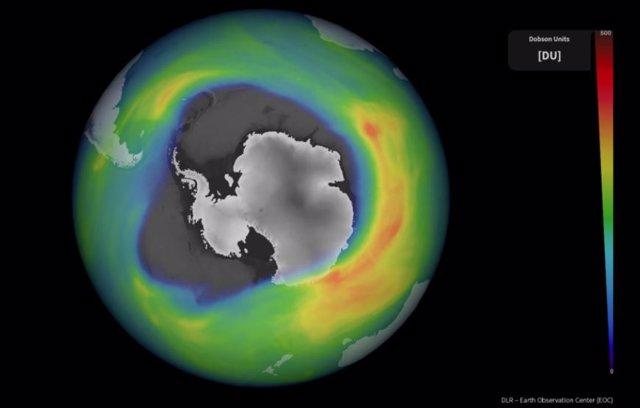 El agujero de ozono antártico, de los mayores y más profundos este año