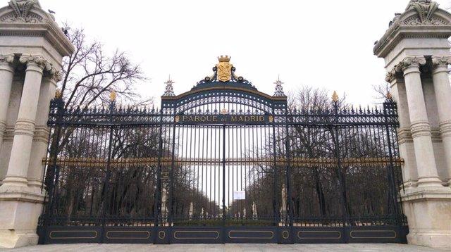 Puerta de entrada a El Retiro