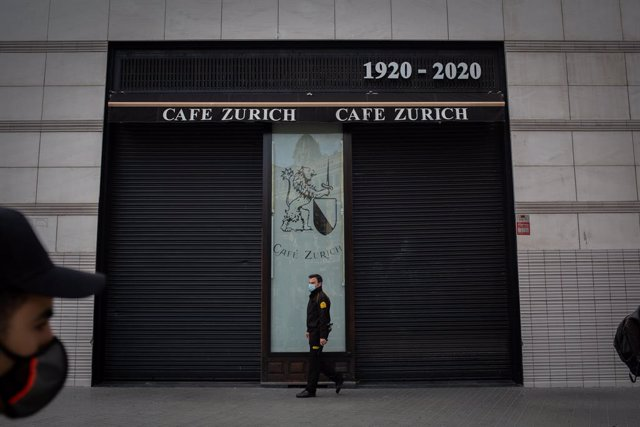 Una cafeteria tancada (Arxiu).