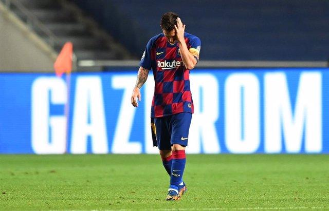 Messi al partit de quarts de final de la UEFA Champions League entre el FC Barcelona i el FC Bayern Munic.