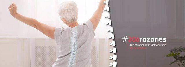 La campaña  #206razones, lanzada por el Día Mundial de la Osteoporosis, recuerda a la población la importancia del cuidado de la salud ósea para prevenir las fracturas por fragilidad, la consecuencia más grave de la osteoporosis.