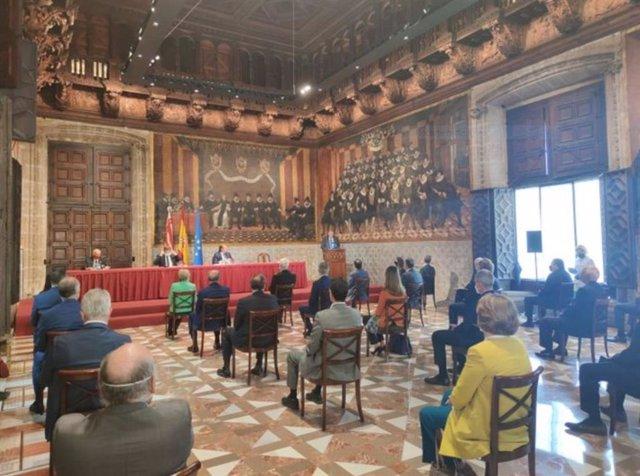 Acto de proclamación de los galardonados en la XXXII edición de los Premis Jaume I