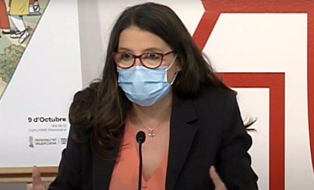 La vicepresidenta del Consell i titular d'Igualtat i Polítiques Inclusives, Mónica Oltra, en una imatge recent.