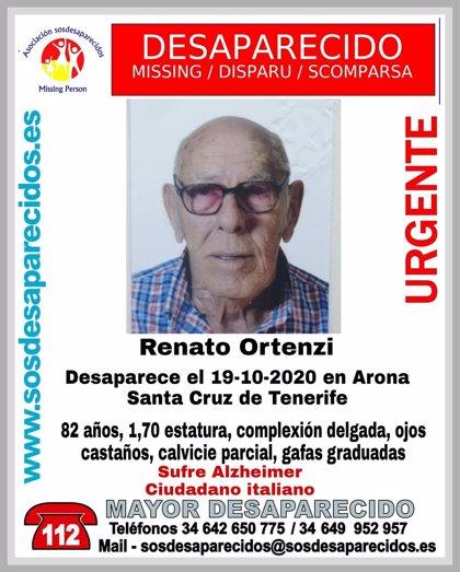 Buscan a un hombre con Alzheimer desaparecido en Arona