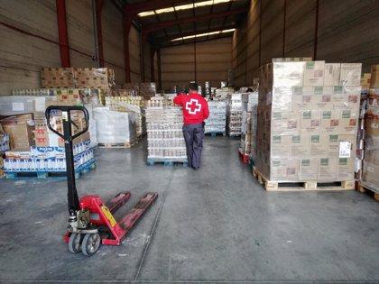 Cruz Roja entregará en Almería 538 toneladas de alimentos a personas vulnerables, que crecen un 20% por el covid