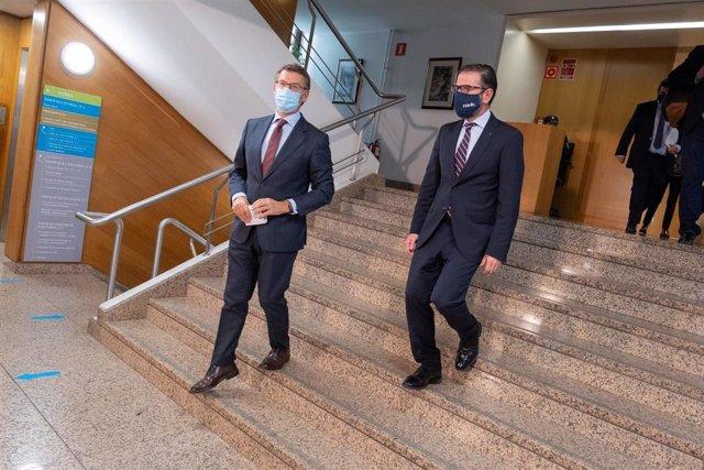 Feijóo, tras reunirse con el alcalde de Ferrol