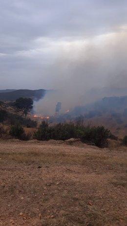 Incendio en Cerro Muriano