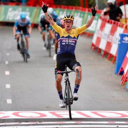 Roglic remata el primer rojo de La Vuelta en Arrate
