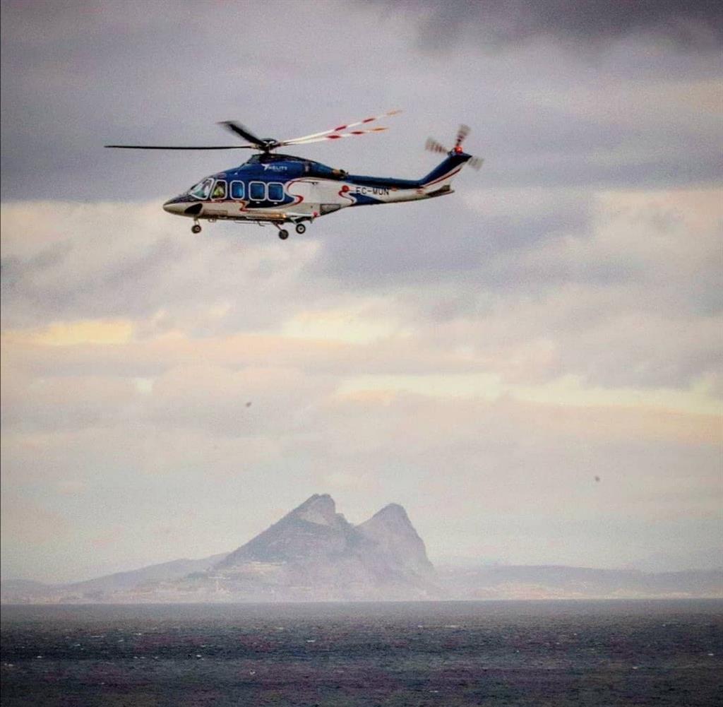 Málaga y Gibraltar estarán unidas desde fin de mes por vuelos regulares en helicóptero tres días por semana 3